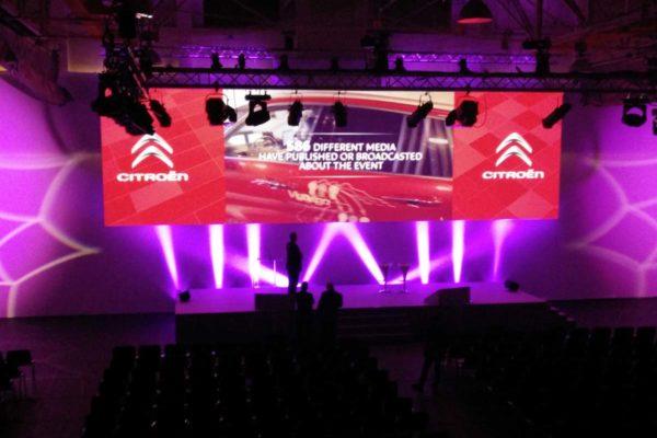 Proyecto iluminación para Peugeot, Visual gs, servicios audiovisuales para empresas en Madrid