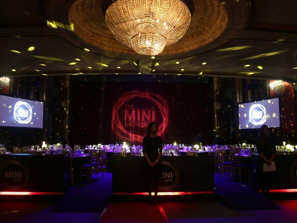 Proyecto iluminación The Mini Show, Visual gs, servicios audiovisuales para empresas en Madrid